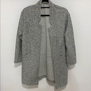 Zara Mid-Length Grey Sweater Coat